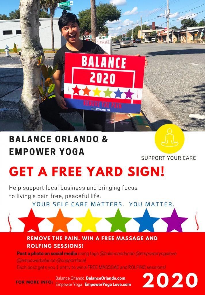 Balance Orlando Remove the Pain Campaign 2020